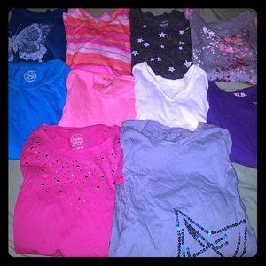 Girls 20 pc lot of shirts size 10 / 12 / 14 L